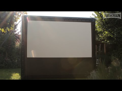 The most portable inflatable screen: AIRSCREEN nano - 100% made in Germany