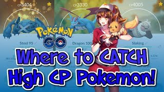 BEST Places to CATCH HIGH CP POKEMON! 4K+ CP With FGL Pro (Best Method)