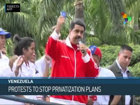 Venezuela: Phone Workers Protest Opposition Privatization Plans