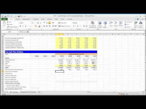 Financial Modeling Quick Lesson: Building a Discounted Cash Flow (DCF) Model - Part 1