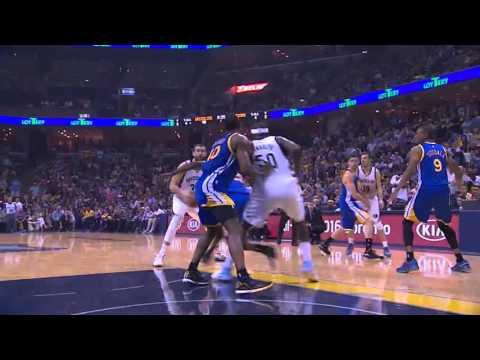 NBA, playoff 2015, Warriors vs. Grizzlies, Round 2, Game 3, Move 23, Marc Gasol, 2 pointer