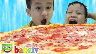 Ăn bánh PIZZA khổng lồ | Trò chơi Bé Đức và Su Hào đi mua bánh Pizza ở máy bán hàng tự động Chi Chi
