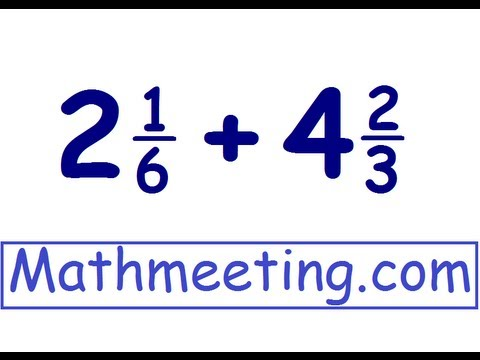 Adding mixed numbers - YouTube