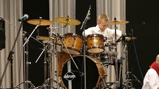 "Kansas - Carry On Wayward Son - Drummer Daniel Varfolomeyev 11 years and Orchestra ""Little Band"""