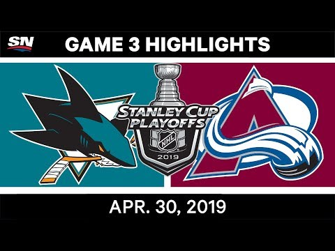 NHL Highlights | Sharks Vs. Avalanche, Game 3 - April 30, 2019