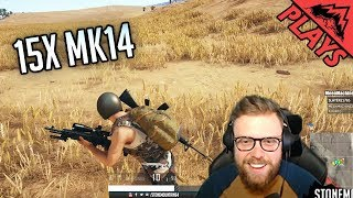 15x MK14 -  PlayerUnknown's Battlegrounds Gameplay #139 (PUBG TPP Squads)