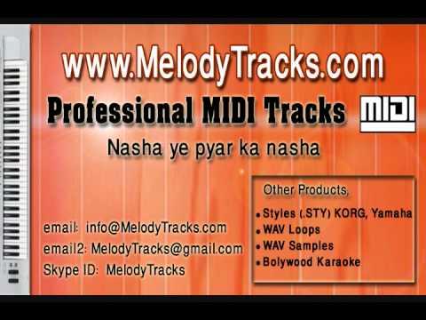 Nasha ye pyar ka nasha hai MIDI - www.MelodyTracks.com