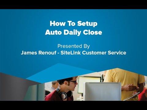 How To Setup Auto Daily Close - SiteLink Training Video