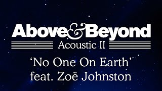 Watch Above  Beyond No One On Earth video