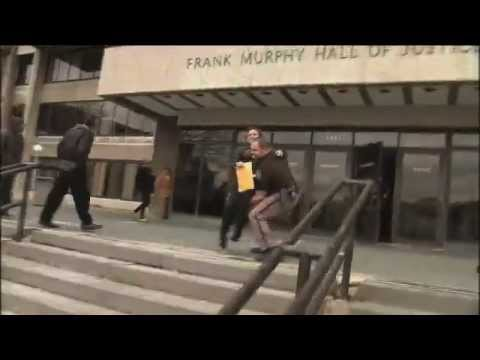 Deputy carries woman with MS during Detroit power...