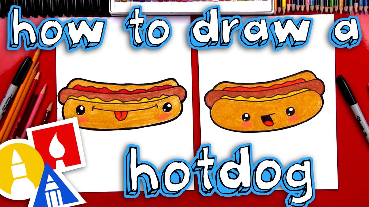 How To Draw Funny Hotdog Youtube