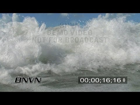 9/21/2007 High Surf In Water B-Roll of waves crashing into the camera