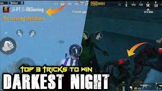 Top 3 Tricks to Win Darkest Night | PUBG Mobile New EvoZone Mode Tricks