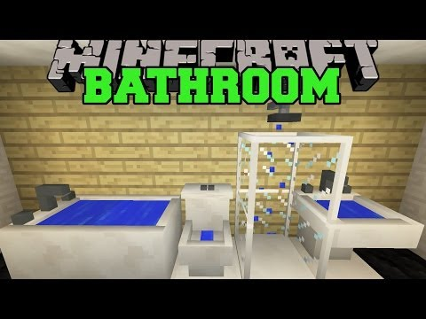 Minecraft: BATHROOM (TOILET, SHOWER, BATHTUB, SINK, & MORE!) Mod Showcase
