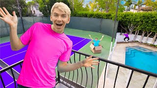 HIDE AND SEEK in NEW SHARER FAM HOUSE BACKYARD!! (Win $10,000)