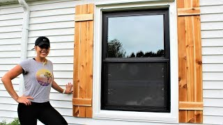 The 30 Minute Cedar Shutters - Easy DIY Project