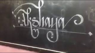 calligraphy skill of malayali school girl
