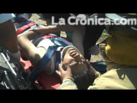 Volcadura en el kilómetro 15 carretera Tijuana-Mexicali