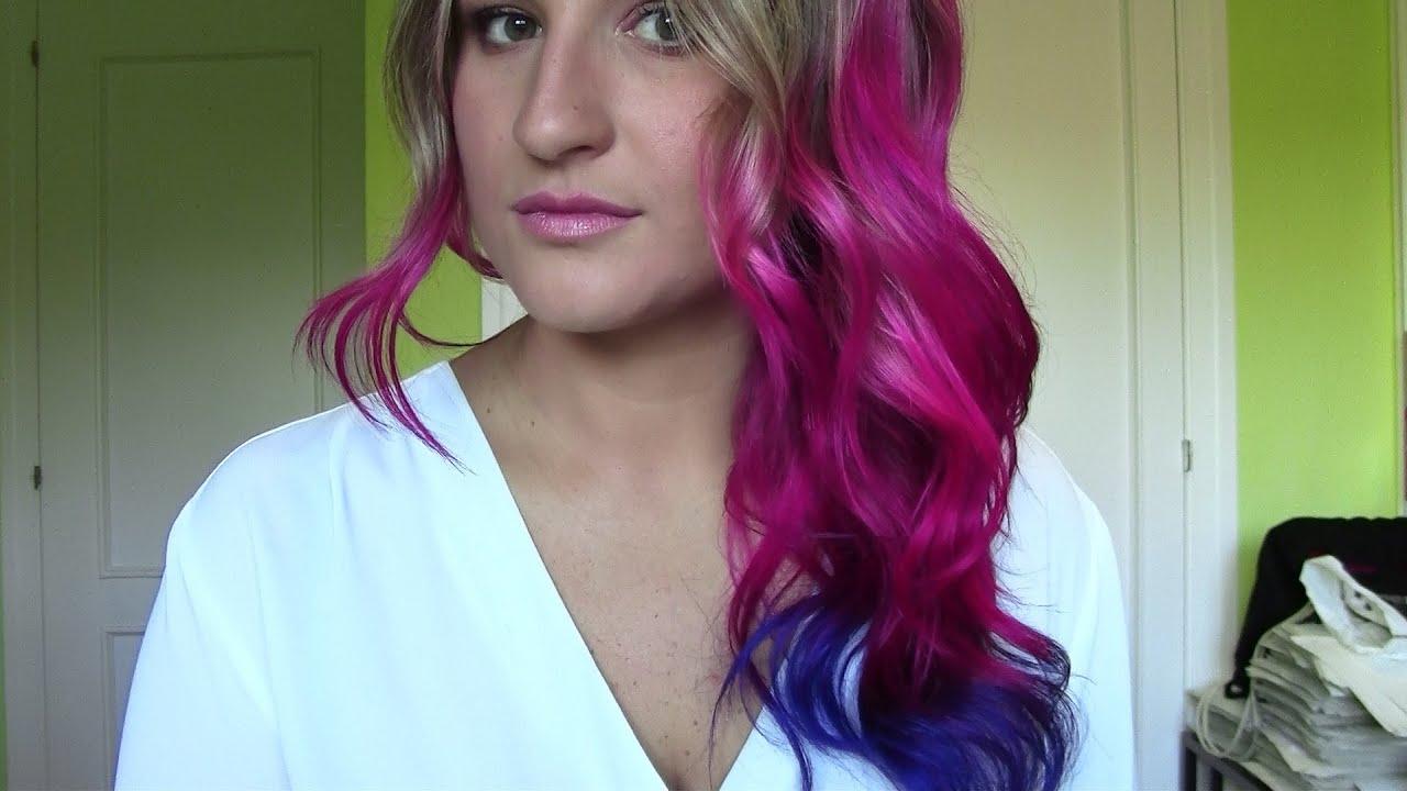 Cambio De Look Te 241 Ir El Pelo De Color Rosa Morado Amp Azul