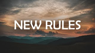 Dua Lipa - New Rules (Lyrics / Lyric Video)