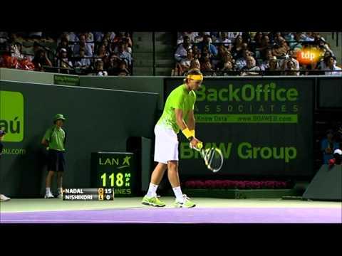 Rafa Nadal vs Kei Nishikori (ATP Masters 1000 Miami 2011) 1/13