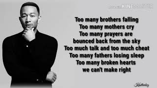 John Legend - We Need Love (Lyrics)
