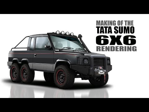 (8.28 MB) Tata Sumo Modified to a 6X6 Monster Truck - Rendering   SRK Designs