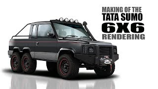 Tata Sumo Modified to a 6X6 Monster Truck - Rendering   SRK Designs 8.28 MB