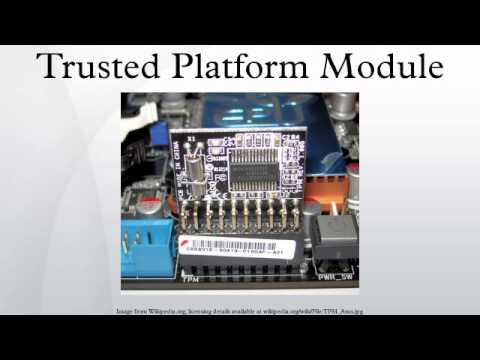 Infineon Trusted Platform Module Driver