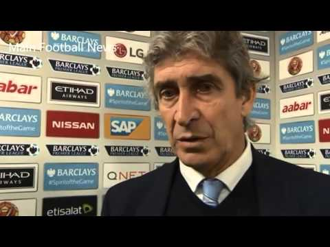 Man City 2-1 Swansea - Post Match Interview Manuel Pellegrini: 'winning was important'