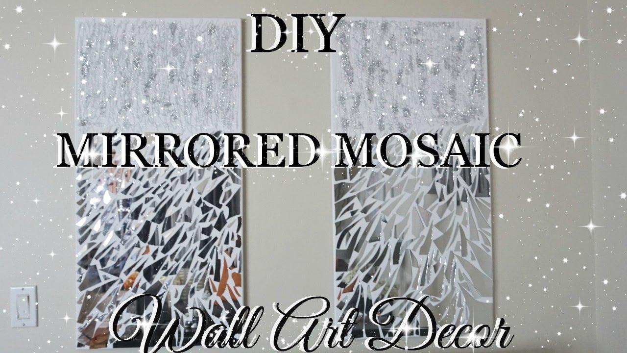 DIY Mirrored Mosaic Wall Art! DIY Wall Decor EASY