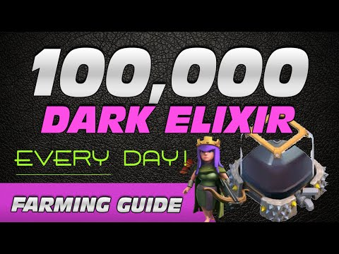 Farm 100K+ Dark Elixir EVERY DAY - Quickly MAX Your Heroes!