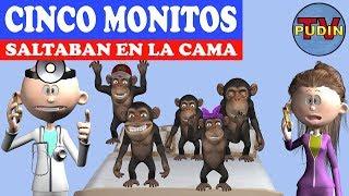 Cinco Monitos Saltaban en la Cama 3D - Canciones Infantiles