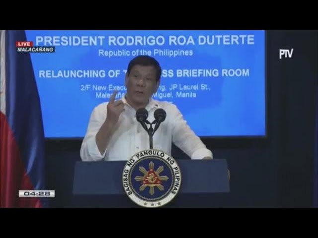 Duterte on threat of PH removal from UN: 'Do it now'