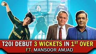 T20i Debut 3 Wickets in 1st Over | Ft. Mansoor Amjad | Caught Behind
