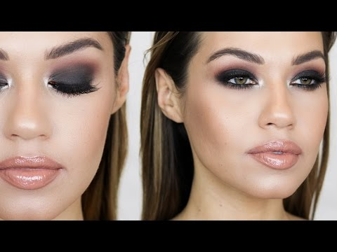 BLACK SMOKEY EYE MAKEUP TUTORIAL   How To Smokey Eye Tutorial   Eman