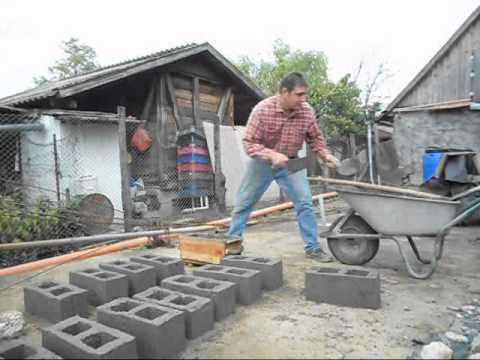 BOLTARU concrete blocks a simple method