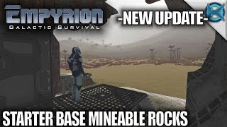 Empyrion Galactic Survival | Starter Base Mineable Rocks | Let's Play Gameplay | Alpha 6 S11E09
