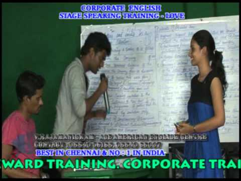 Spoken English In Chennai American And British Corporate Words -english Stage Speaking Training  - video