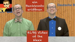 Opening a Bank Account - Learn Intermediate German for B1/B2 #17 - Deutsch lernen