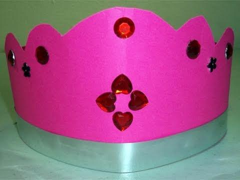 Manualidades para ni�as: corona o tiara rosada