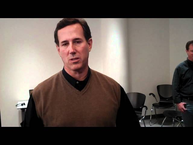 Santorum Discusses Rising Poll Numbers