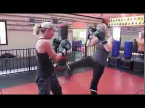 Sensei Cody Davis teaches a great kickboxing combination using partner drill Image 1