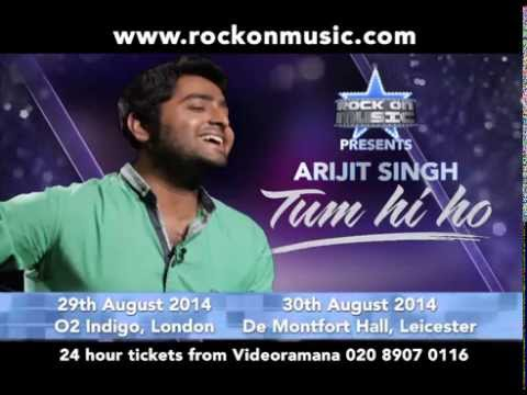 Arijit Singh – Live In Concert On 29th August At O2 Indigo, London