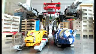 Mighty Morphin PR - Dino Megazord transformation stop motion