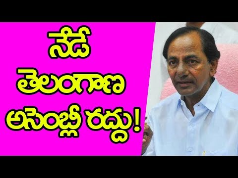 Telangana Assembly Dissolve Today | CM KCR | Telangana Political News  | YOYO TV Channel