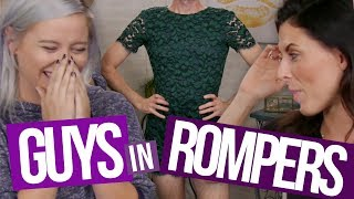 Guys Try On Girl Rompers (Beauty Break)