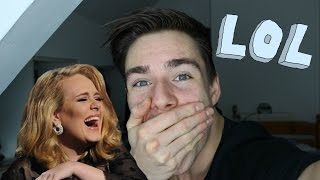 """""""Try Not To Laugh Challenge"""" Funniest Adele interview ever!"""