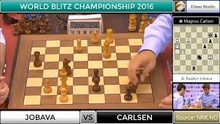 WHAT A GAME!!! CARLSEN VS JOBAVA | WORLD BLITZ CHAMPIONSHIP 2016
