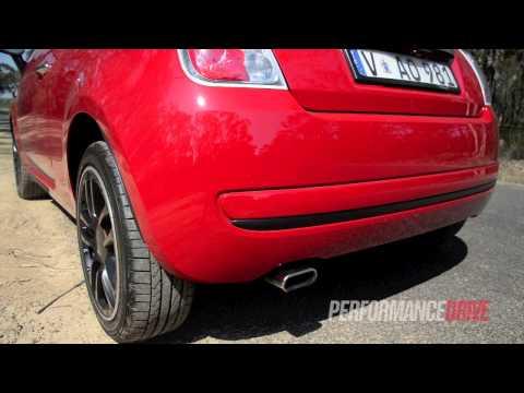 2013 Fiat 500 TwinAir engine sound and 0-100km/h